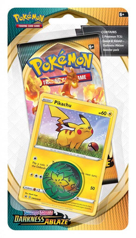 Pokemon TCG: Sword and Shield Darkness Ablaze Checklane Blister - Pikachu