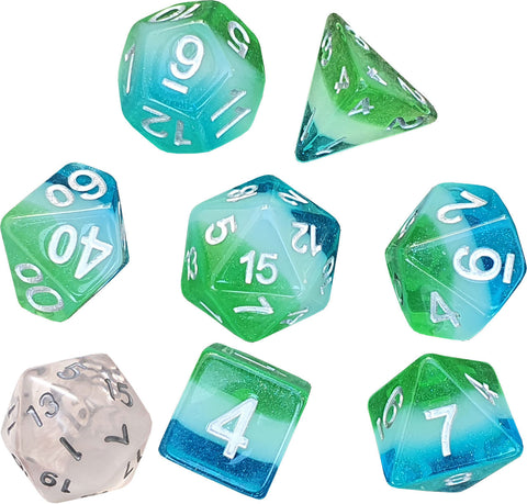 Sirius Dice: Polyhedral Dice Set - Blue Hawaiian