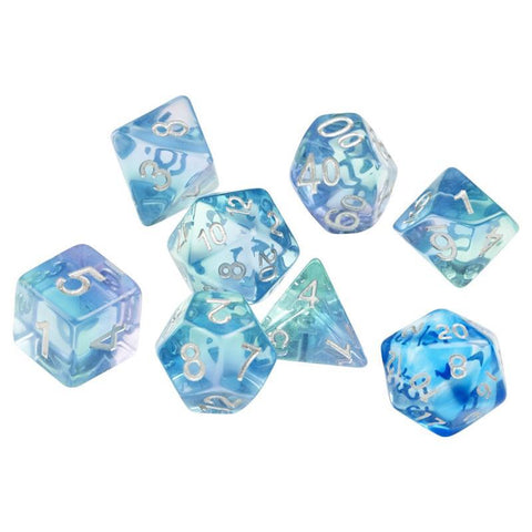 Sirius Dice: Polyhedral Dice Set - Emerald Waters