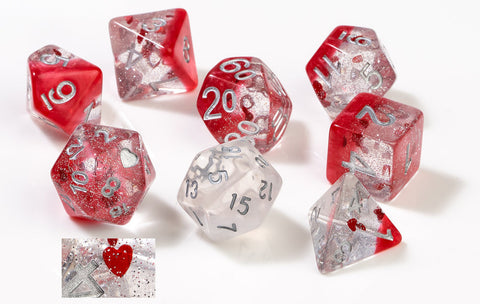 Sirius Dice: Polyhedral Dice Set - Hearts