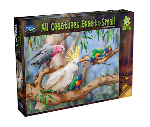 Holdson: 1000 Piece Puzzle - All Creatures Great & Small - A Colourful Crowd (Birds)