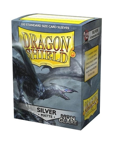 Dragon Shield: Sleeves Matte Non-Glare Silver Sleeves