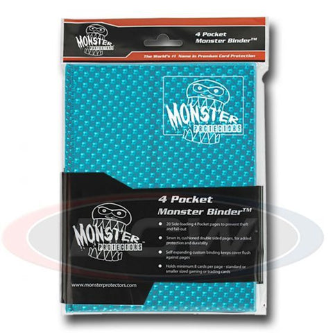 MONSTER: 4-Pocket Folder - Holo Aqua Blue