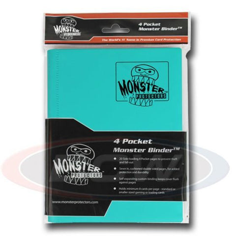 MONSTER: 4-Pocket Folder - Matte Teal