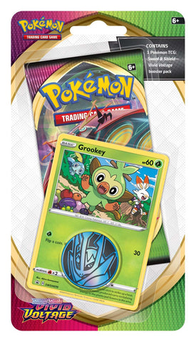 Pokemon TCG: Sword and Shield Vivid Voltage Checklane Blister - Grookey