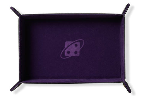 Sirius Dice: Dice Rectangle Tray (Purple), copper buttons