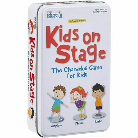 Charades Kids on Stage Card Game Tin