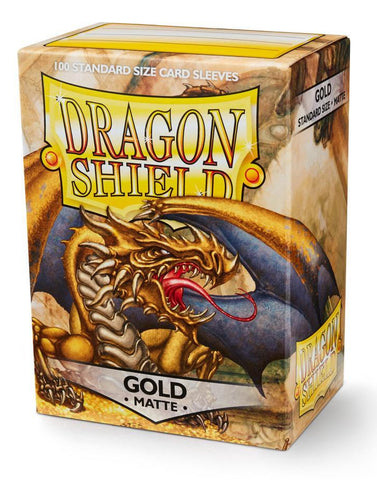 Dragon Shield Matte Gold Card Sleeves