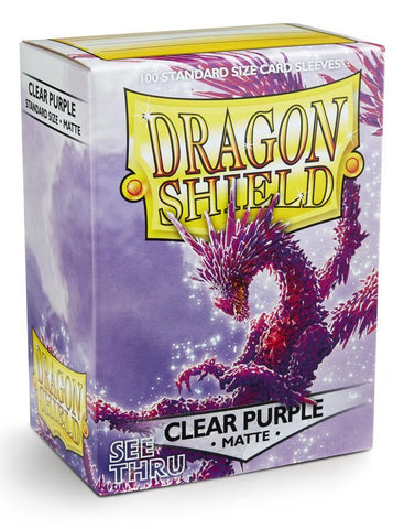 Dragon Shield: Matte Clear Purple Sleeves