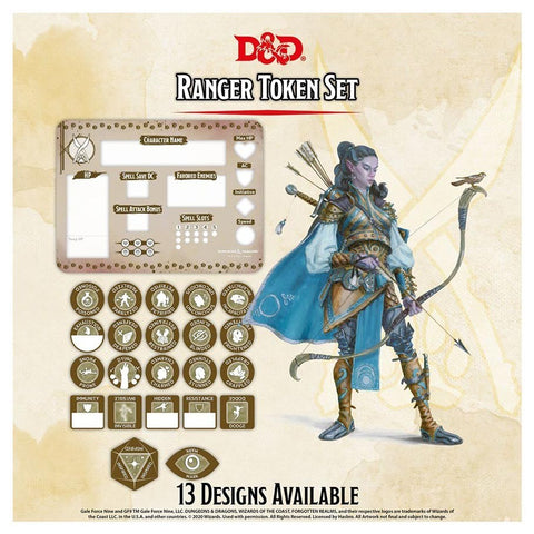 Dungeons & Dragons: Character Tokens - Ranger Token Set