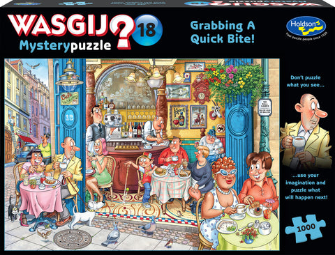 Wasgij: 1000 Piece Puzzle - Mystery #18 (Grabbing a Quick Bite)