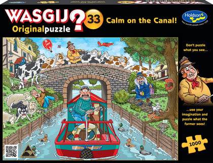 Wasgij: 1000 Piece Puzzle - Originals #33 (Calm on the Canal)