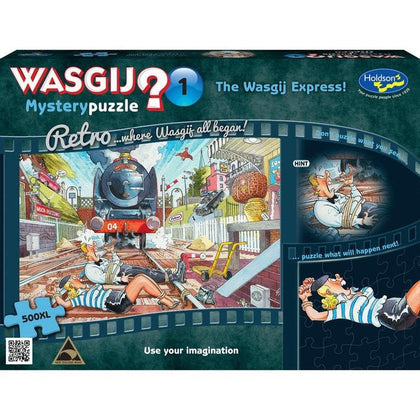 Wasgij XL: 500 Piece Puzzle - Retro Mystery (The Wasgij Express)