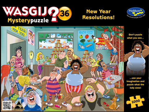 Wasgij: 1000 Piece Puzzle - Original #36 (A New Year Resolution)
