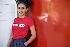 "Ladies GIFTED Red ""OWN IT"" T - Shirt"