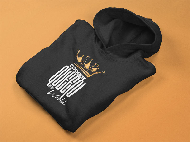 Ladies Coolest Queen In The World Hoodie