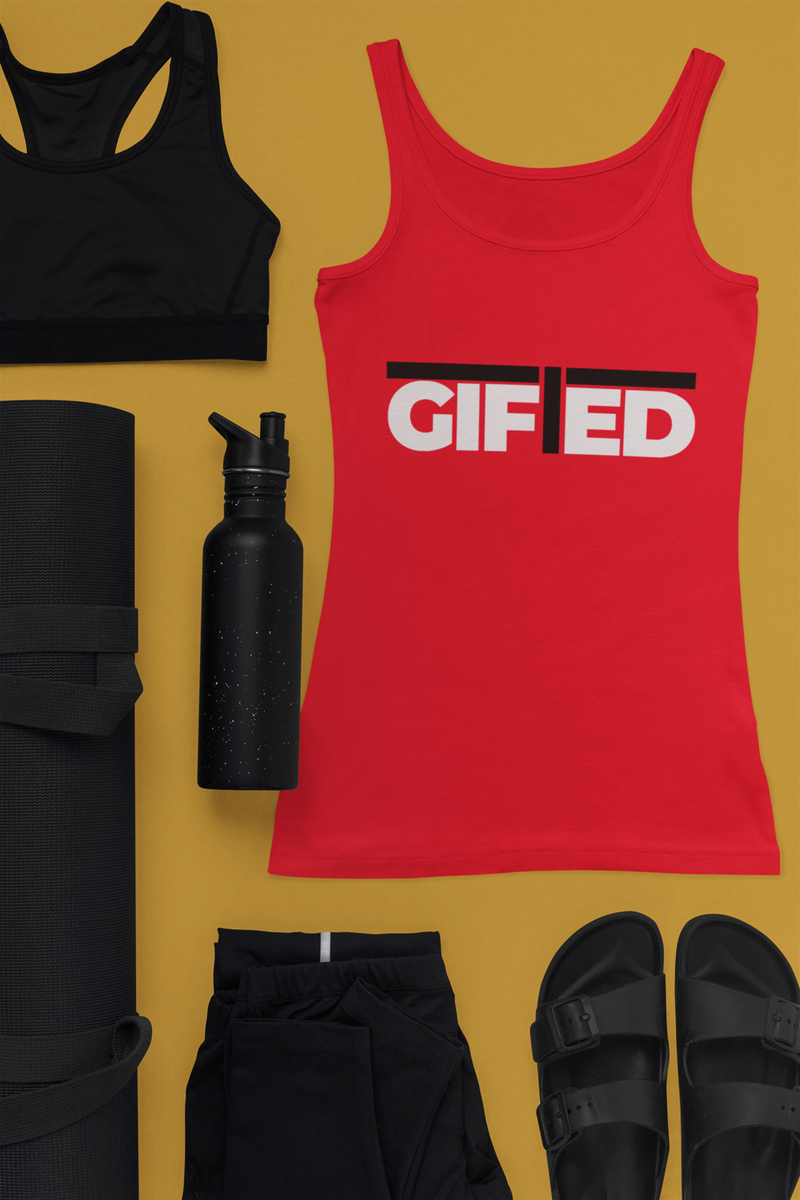 "Ladies GIFTED Red ""OWN IT"" Tank Top"