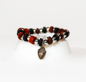 Beaded Bracelet Dark Brown/Black