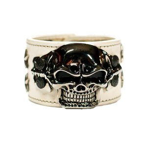The Big Skull White Leather