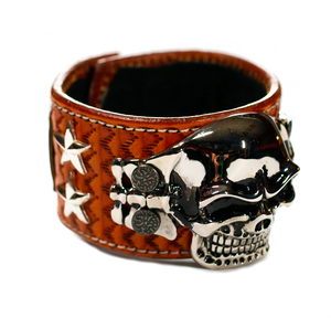 The Big Skull Light Brown Leather