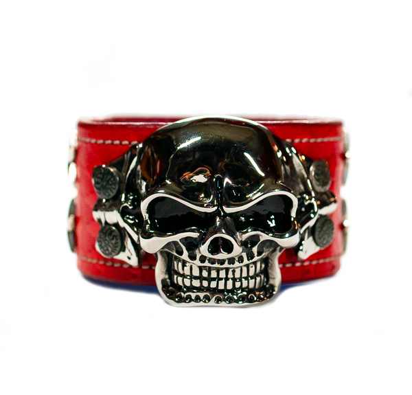 The Big Skull Red Leather