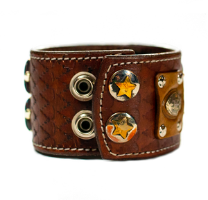 The Big Skull Dark Brown Leather