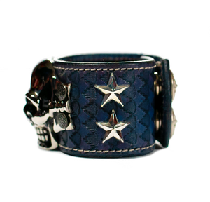 The Big Skull Navy Leather