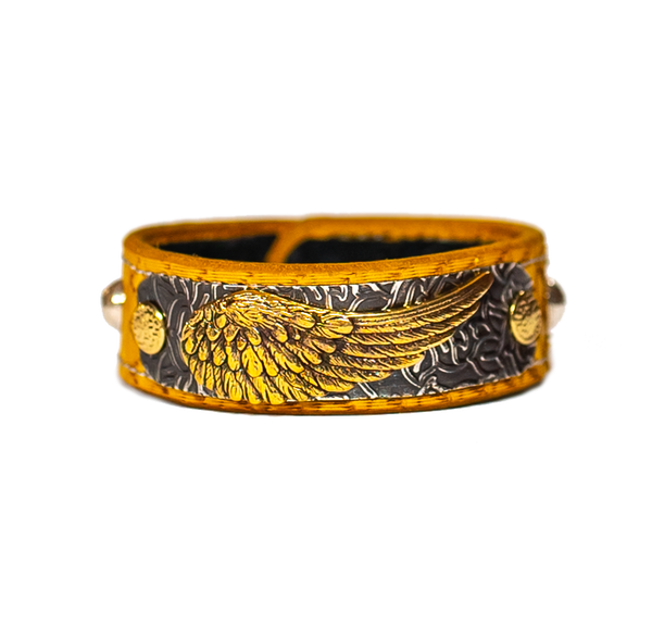The Angel Wing Leather Band