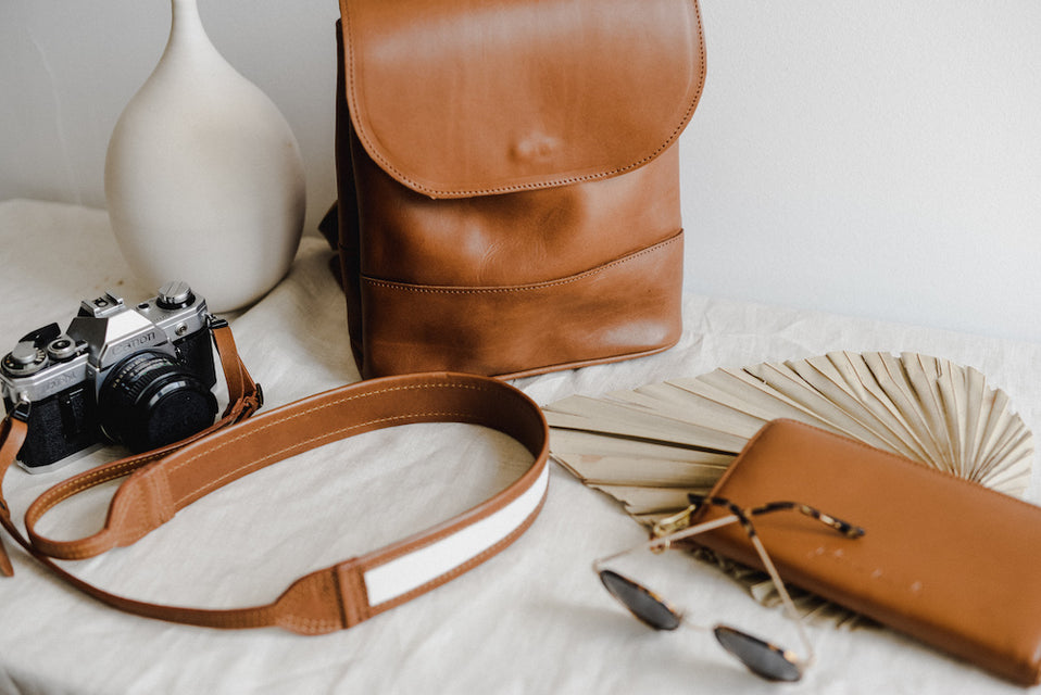 Brown Leather DSLR  Camera strap by Jolie Laide