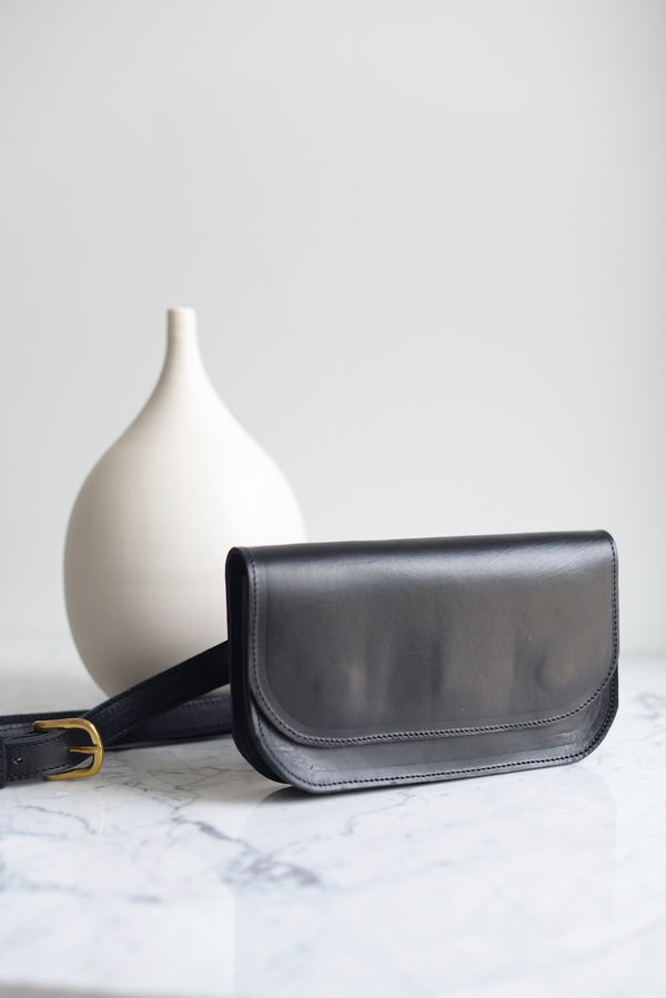 The Wabi-Sabi Black Belt Bag by Jolie Laide