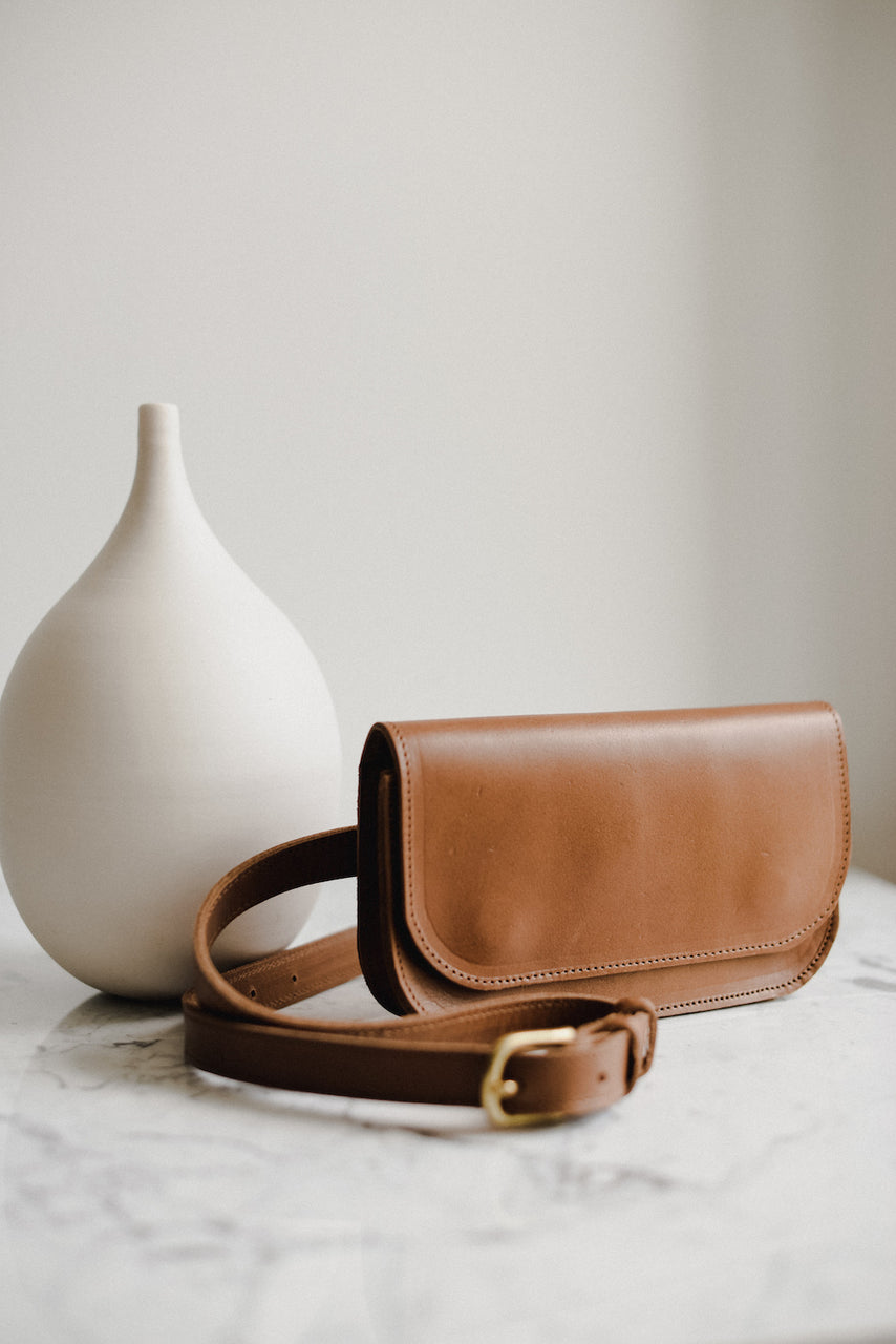 The Wabi-Sabi Brandy Belt Bag by Jolie Laide