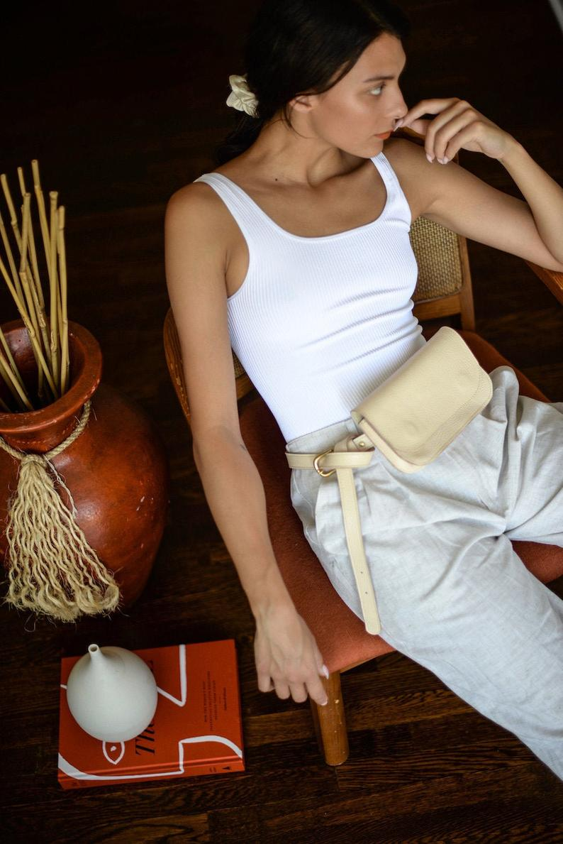 The Wabi-Sabi Cream/Sunkissed Belt Bag by Jolie Laide