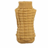 Dog Clothes Pet Winter Woolen Sweater Knitwear Puppy Clothing Warm Hemp Flowers High Collar Coat #XT10