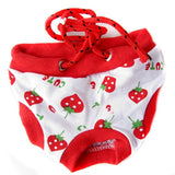 Female Pet Sanitary Underwear Lovely Puppy Dog Pant Short Panty Strawberry Striped Diaper Size S  M L XL