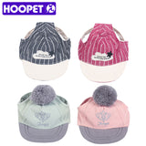 HOOPET Fashion Dog Baseball Stripe Hat Summer Canvas Cap For Small Pet Outdoor Accessories