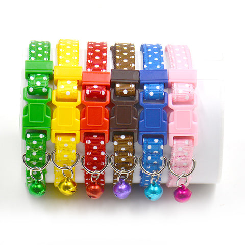 Hot Sale 6 Colors Safety pet collars Hot Cute Bell Collar Small Dog Collar Cat Collars Adjustable