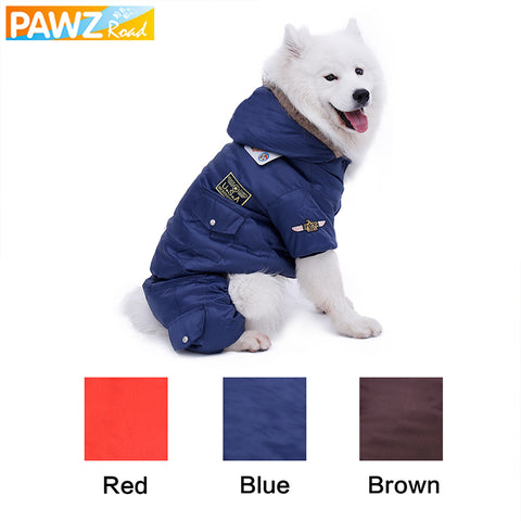 Pet Dog Clothes For Big Dogs USA Air Force Winter Coats for Large Dog Puppy Jumpsuit For Golden Retriever Warm Suitable Material