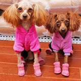 S-2XL Pet Dog Shoes Winter Super Warm Dog Boots Cotton Anti Slip Shoes Small Pet Product ChiHuaHua Waterproof Shoes MYDING