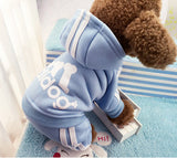 Winter Warm Pet Dog Clothes Four-legs Hoodie Small Dog Sweaters Coats Cotton Puppy Clothing Outfit for Chihuahua XS-2XL