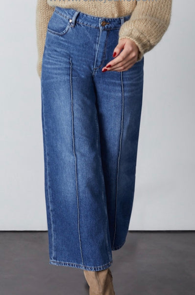 wide leg jean poppy -vintage blue
