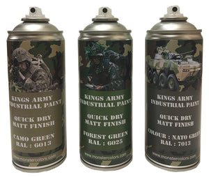 Kings Army Jungle Camo Pack Gloss Finish - monster-colors