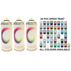 3 x PVC Spray Paint Matt Finish Save £££ - monster-colors