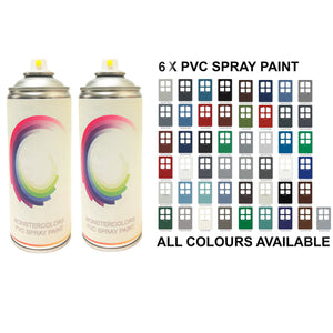 6 x PVC Spray Paint Matt Finish Save £££ - monster-colors
