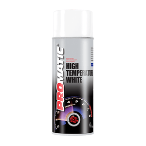 Promatic High Temperature Spray Paint White 400ml - monster-colors