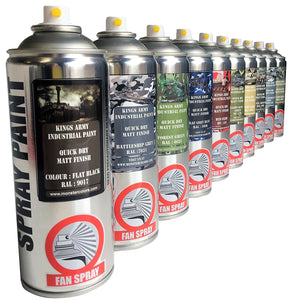 5 x Kings Army Military Spray Paint Matt Finish Save £££ - monster-colors