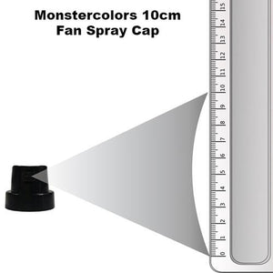 Full Black Fan Cap 10cm Spray - monster-colors