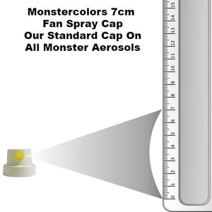Standard White-Yellow Fan Cap 7cm Spray - monster-colors