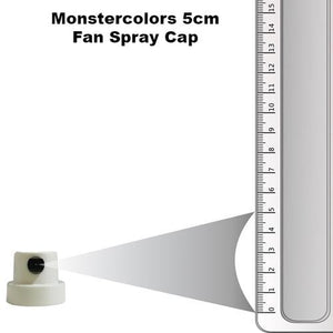 White & Black Fan Cap 5cm Spray - monster-colors