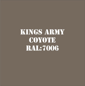 Kings Army Military Matt Spray Paint 20 New Colours Special Introductory Offer!