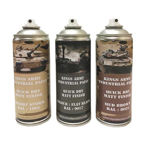 Kings Army Desert Camo Pack Gloss Finish - monster-colors